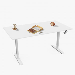 Height Adjustable Standing Workstation with Foldable Handle